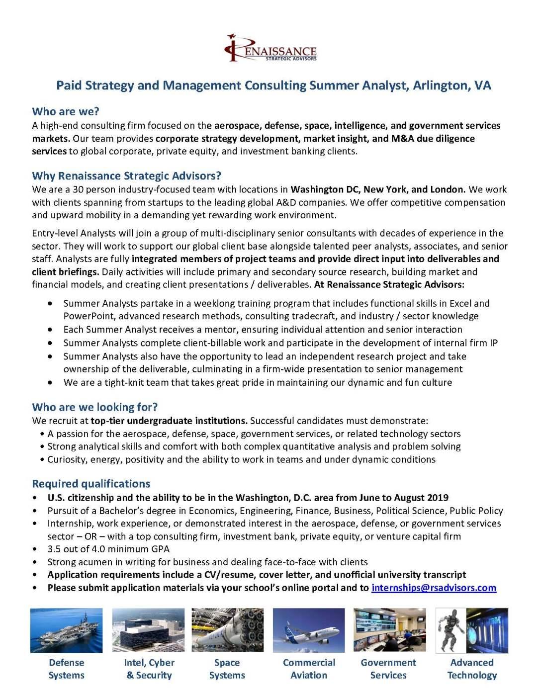 RSAdvisors Summer Analyst Position Description - August 2018 INTERNSHIP.jpg