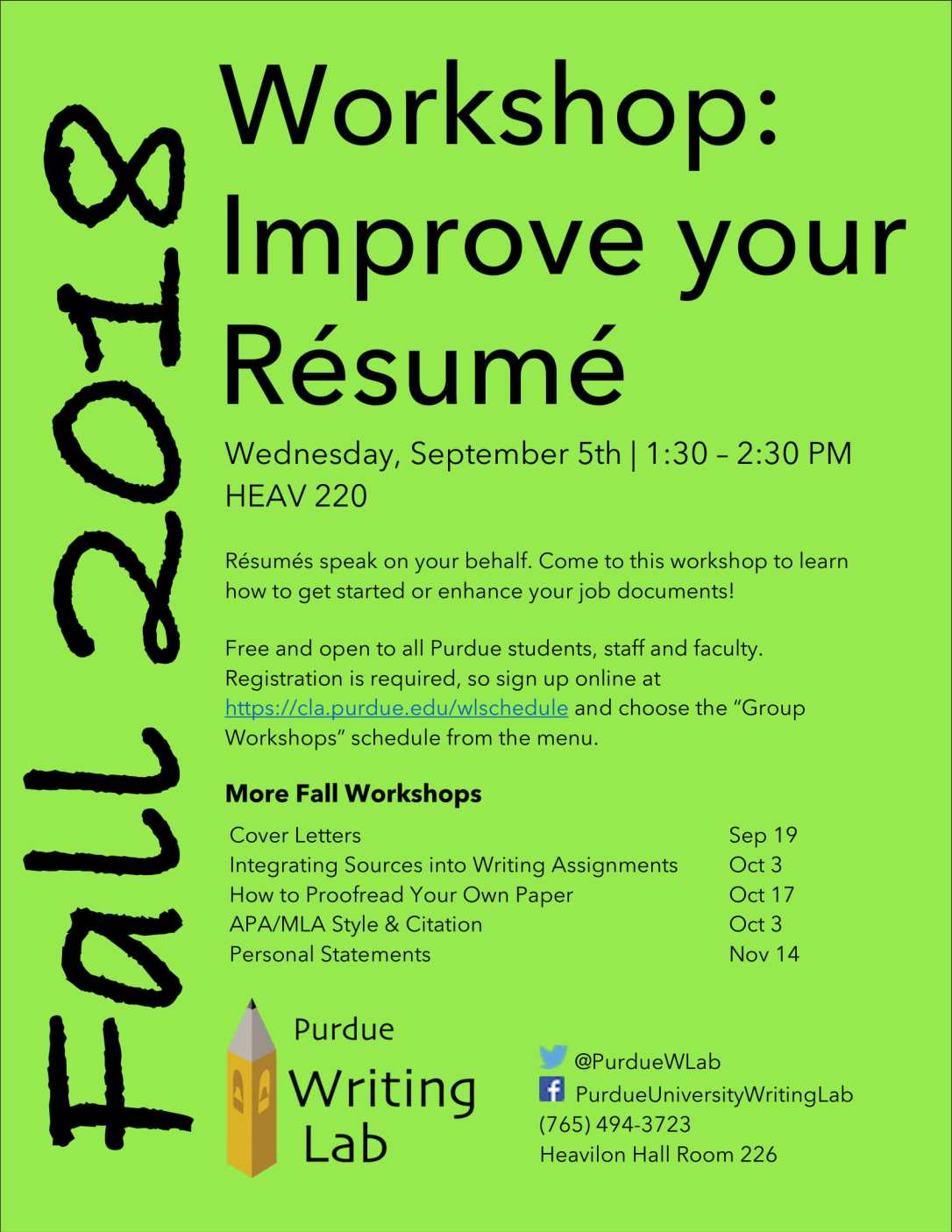 Resume Workshop Flyer_Fall 2018-1