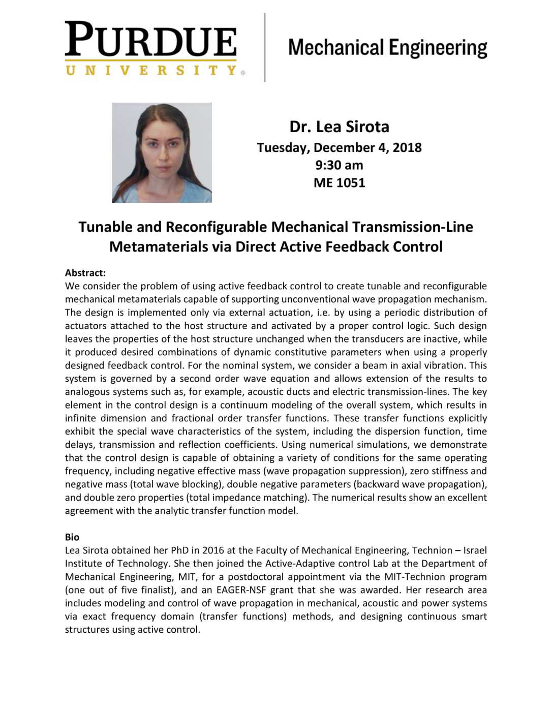Lea Sirota seminar announcement-1
