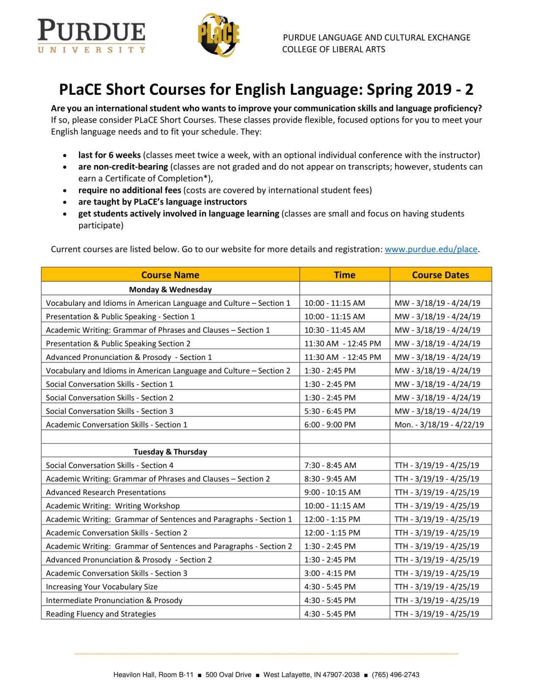Detailed PLaCE Short Course Flier_SP19 Session 2 - FINAL-1
