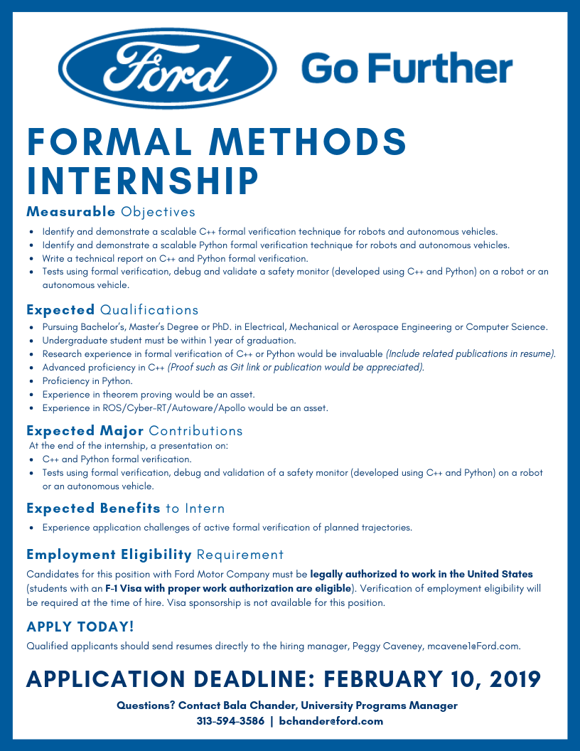 Formal Methods Internship