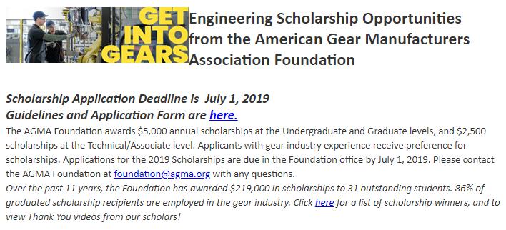 Gear Scholarship