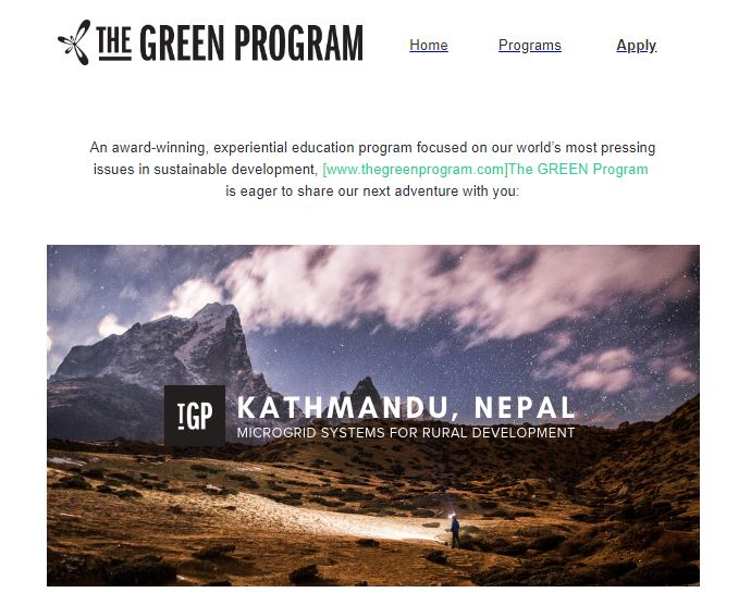 Green Program 01