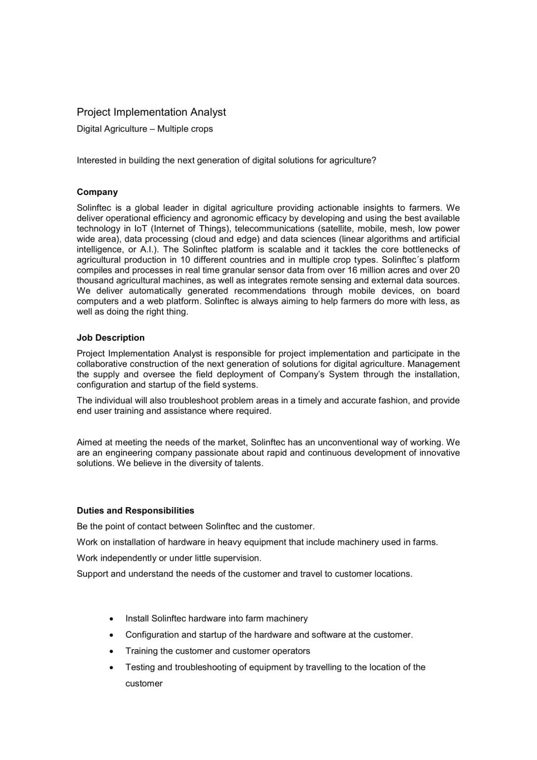 SOLINFTEC - Project Implementation Analyst-1