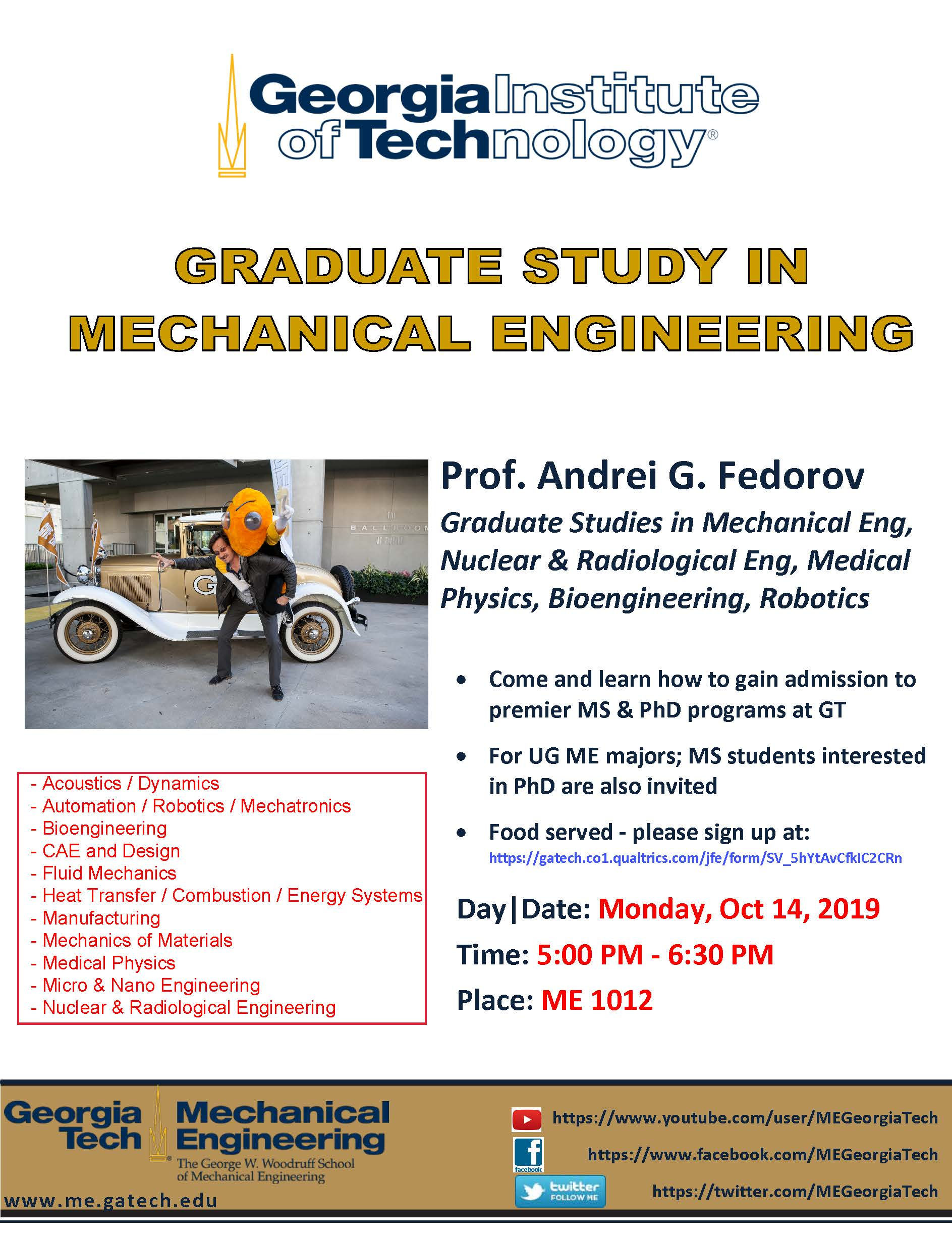 Georgia Tech Graduate Study In Mechanical Engineering Recruitment Callout Undergraduate Blog