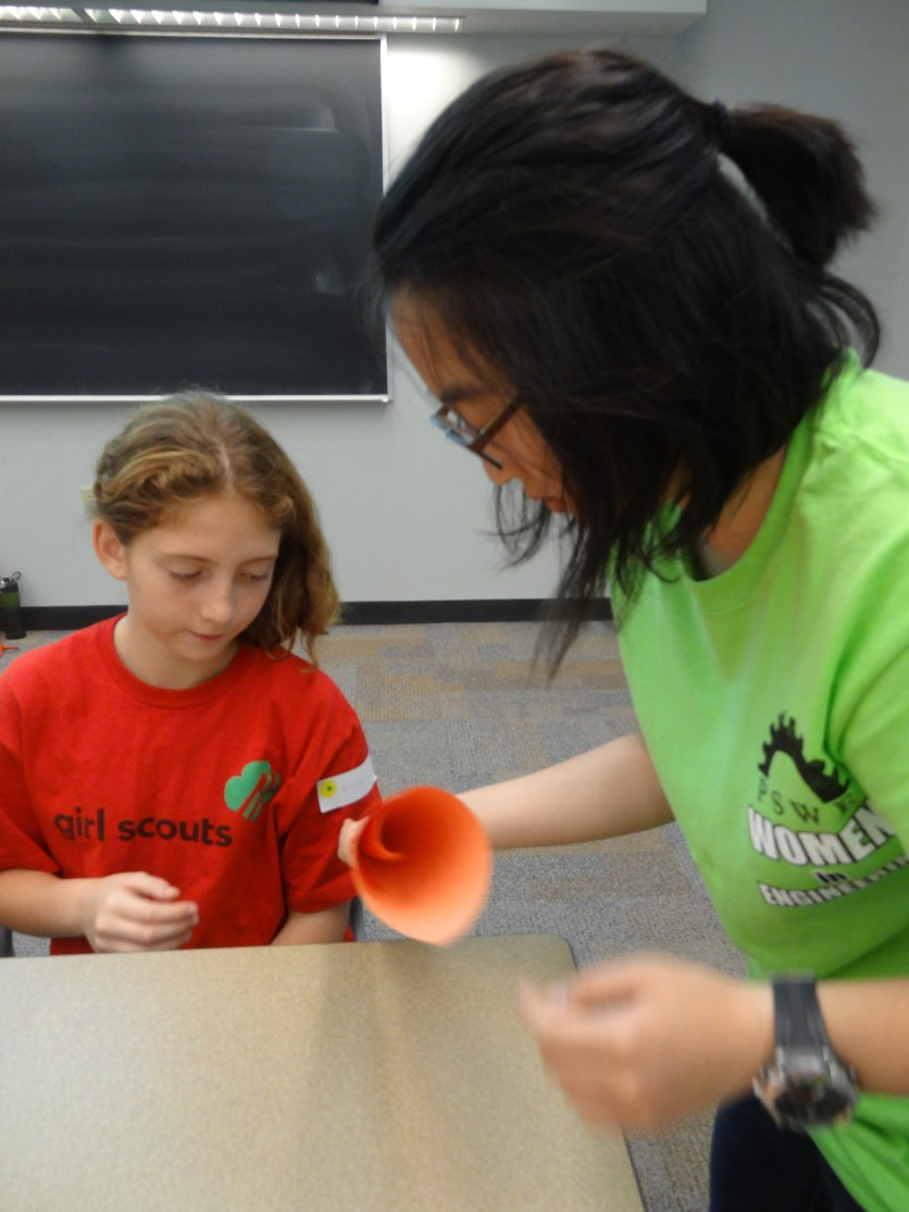 Volunteer and Girl Scout at GSD