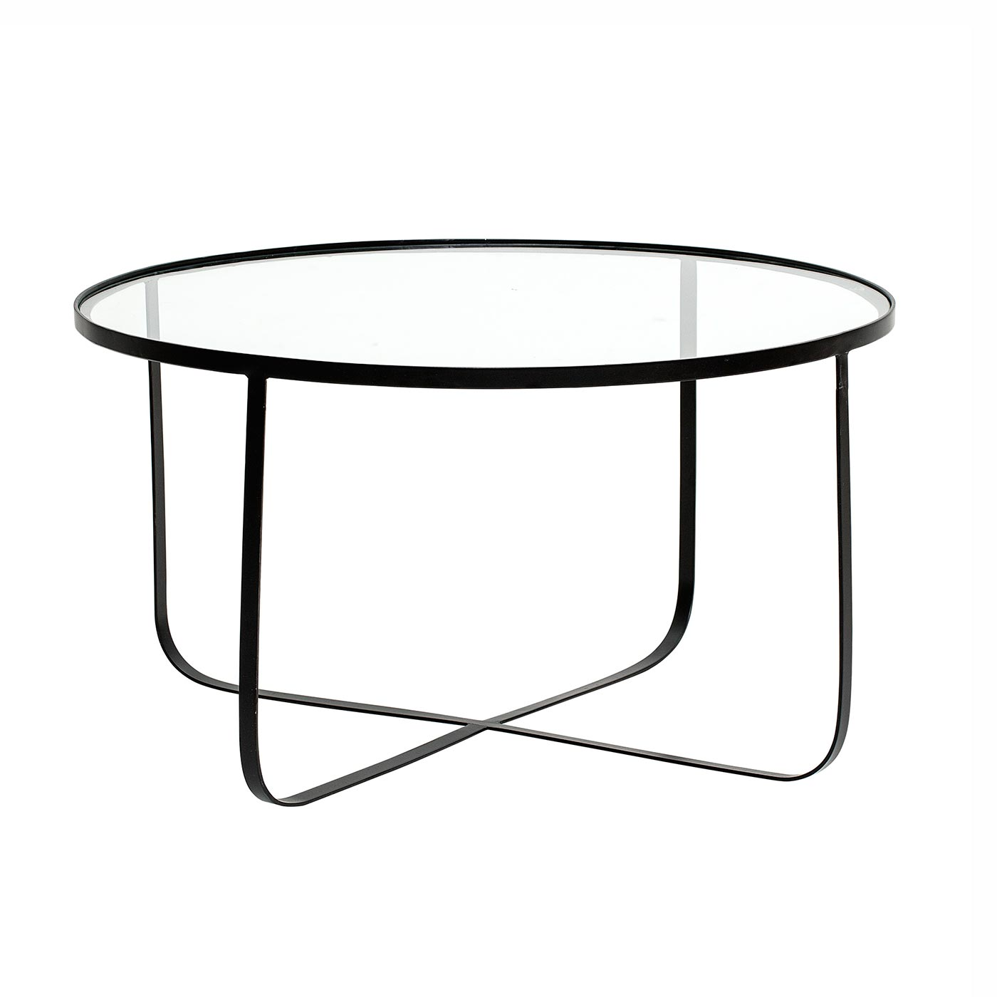 harper round glass coffee table bloomingville