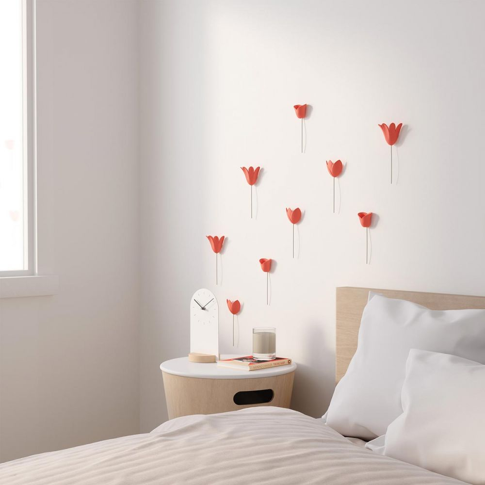 Wall decoration in relief coral flower - 3D tulips - Umbra on Wall Decoration  id=27216