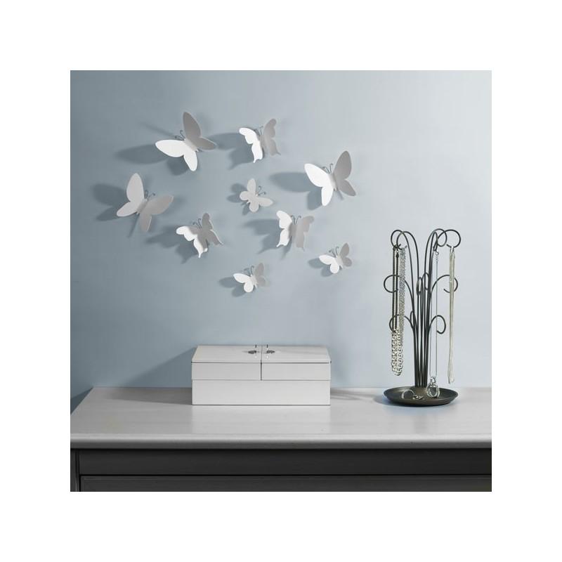 deco murales mariposa blanc