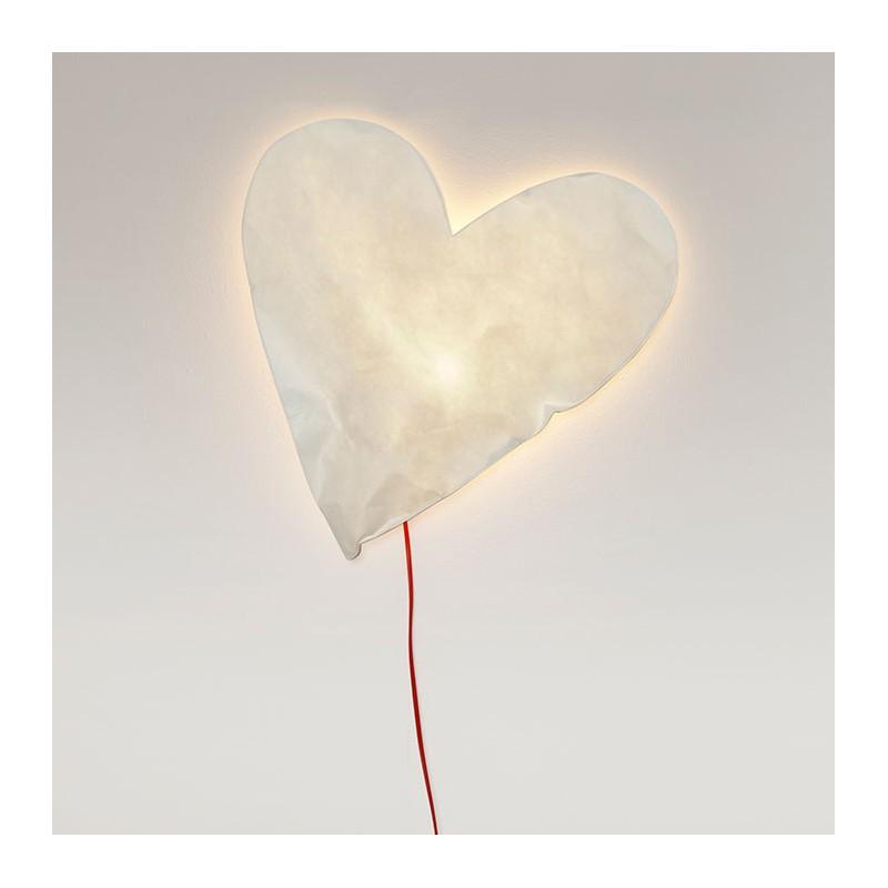Applique Lumineuse Coeur En Papier Par Raumgestalt