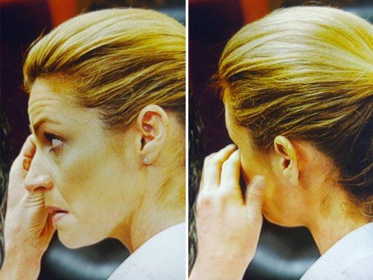 Erin Andrew's visiblement émue lors du procès