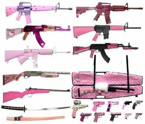 """Des modèles de carabines """"girly"""" pour les filles"""