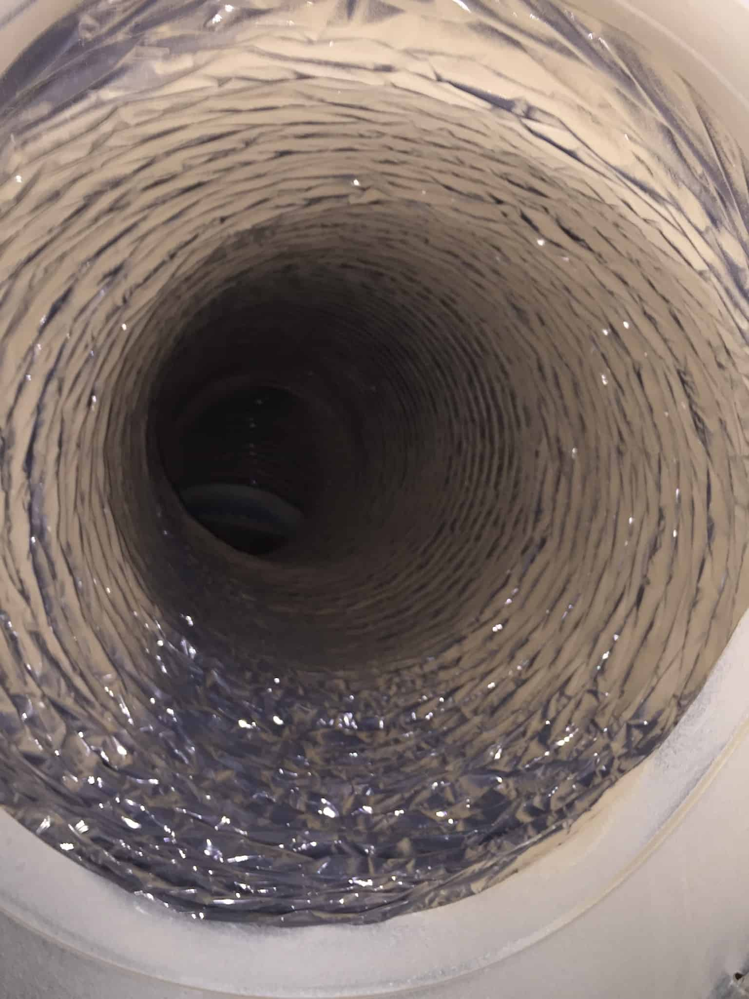 Dryer Vent Cleaning before after pictures