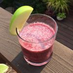 appel smoothie purple apples pure and liquid bottl