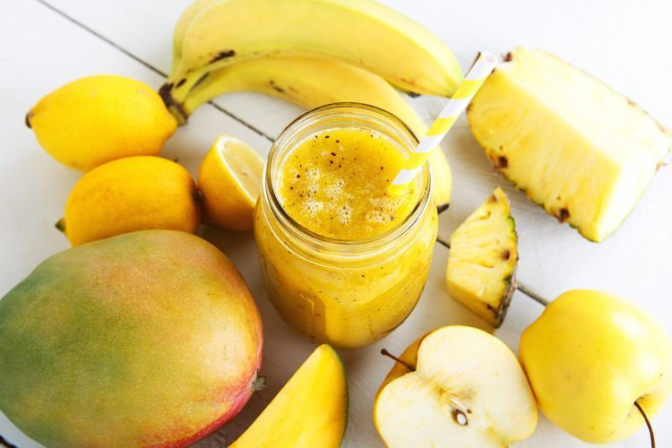Frisse Gele Mango Smoothie