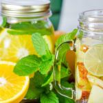 Detox water limoen appel en mint