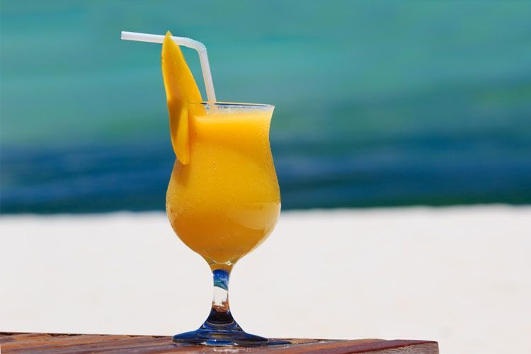 Mango smoothie: Summer during Christmas