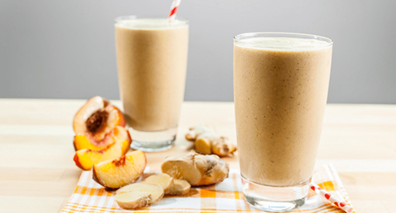 Vega Peach Almond-milk smoothie