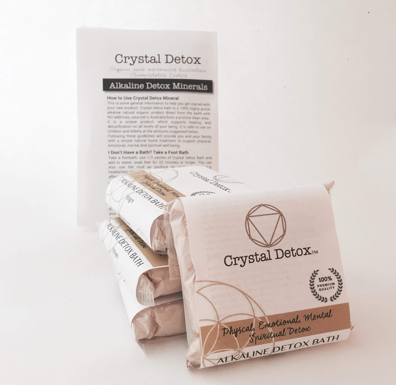 Crystal Detox micronized Australian organic mineral powder