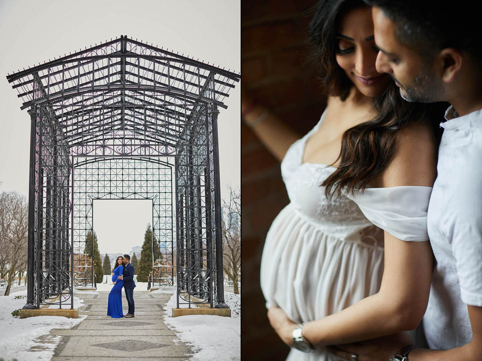 chicago best maternity photos - Chicago Maternity Photo Shoot - A Winter Edition in Millennium Park