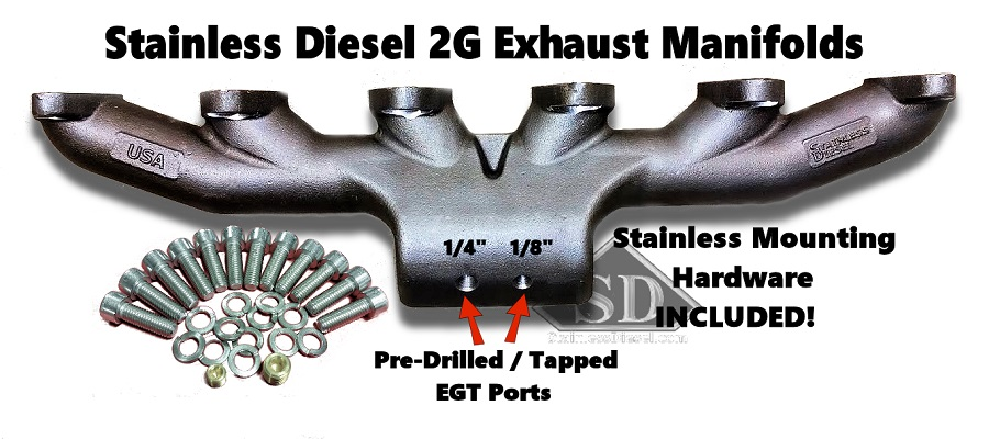 98 5 11 dodge 5 9l 24v cummins t 3 stainless diesel exhaust manifold