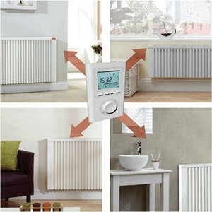 Wifi controlled electric radiators