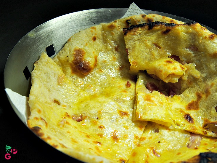 cheese bacon naan