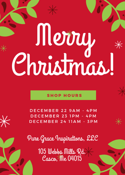 Merry Christmas Shop Hours