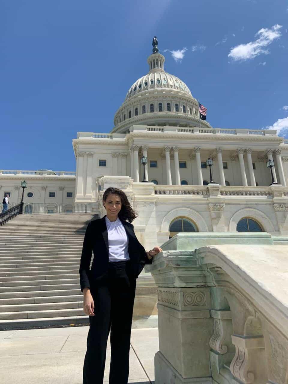 congressional intern Mary Kamara Hagemeyer