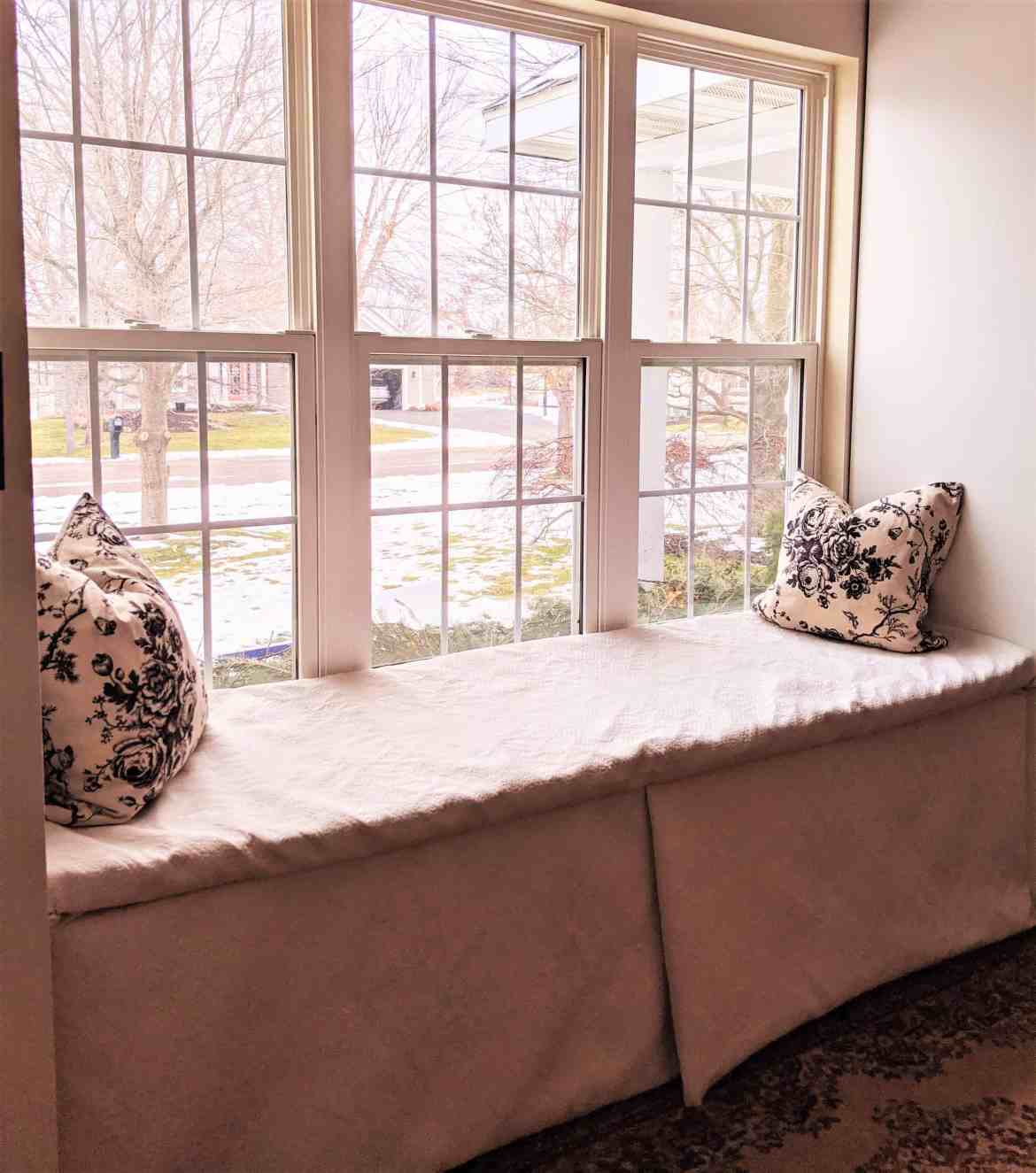 apolstered window seat
