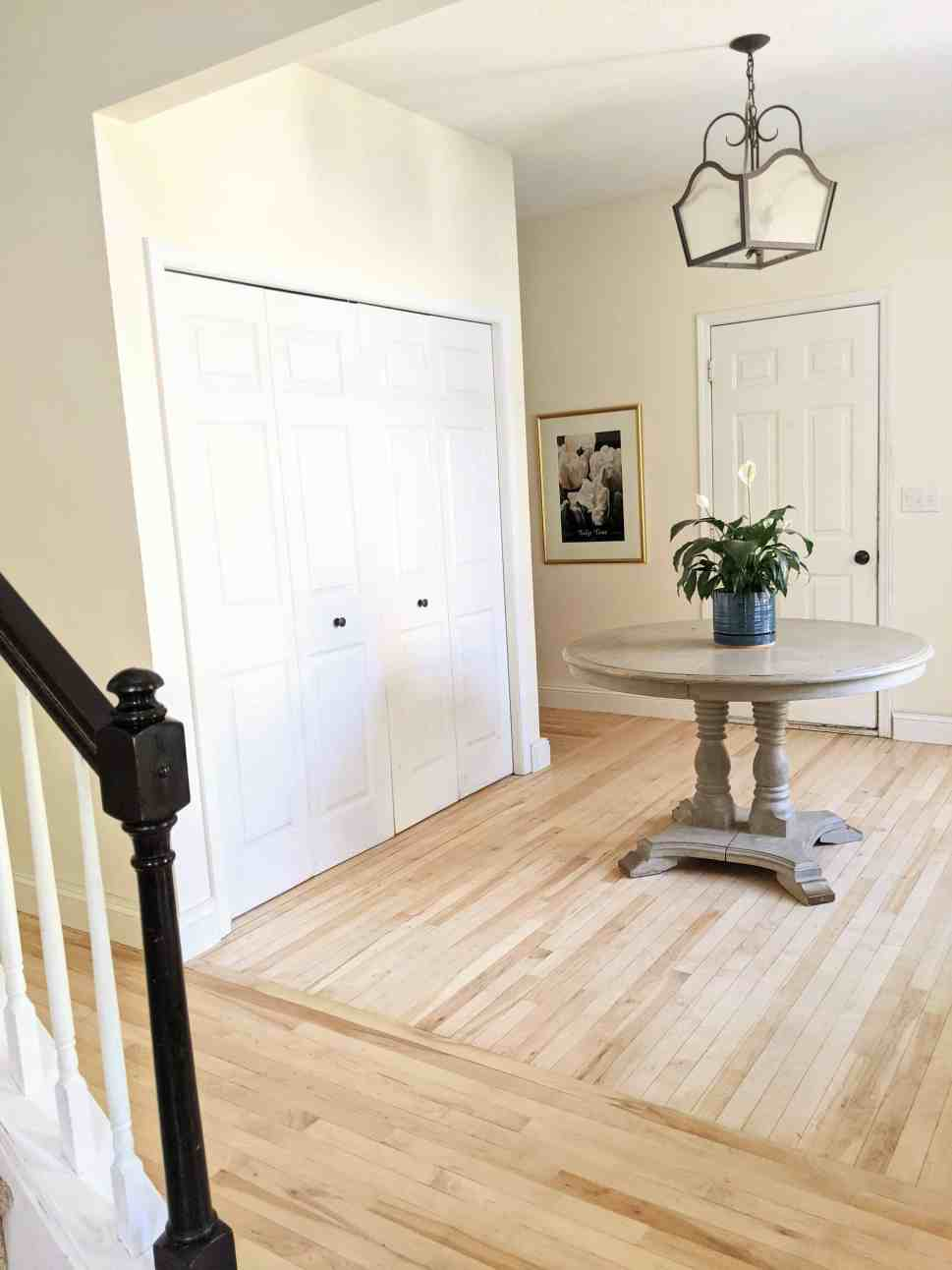 foyer with maple floors