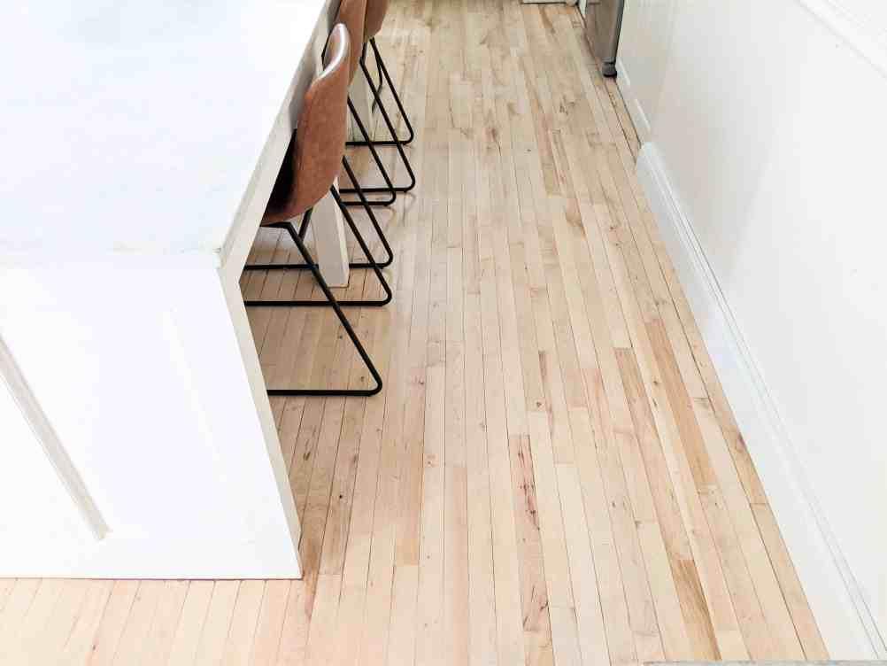 wood floors kitchen isalnd