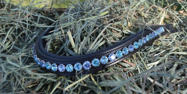 crystal black browband - blue multi
