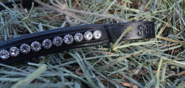 crystal black browband - golden yellow multi 3