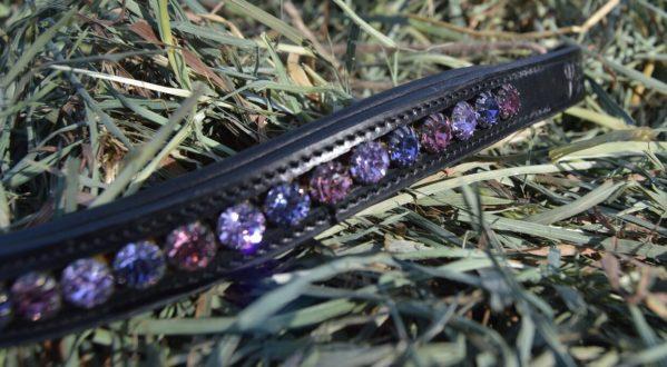 crystal black browband - purple multi 3