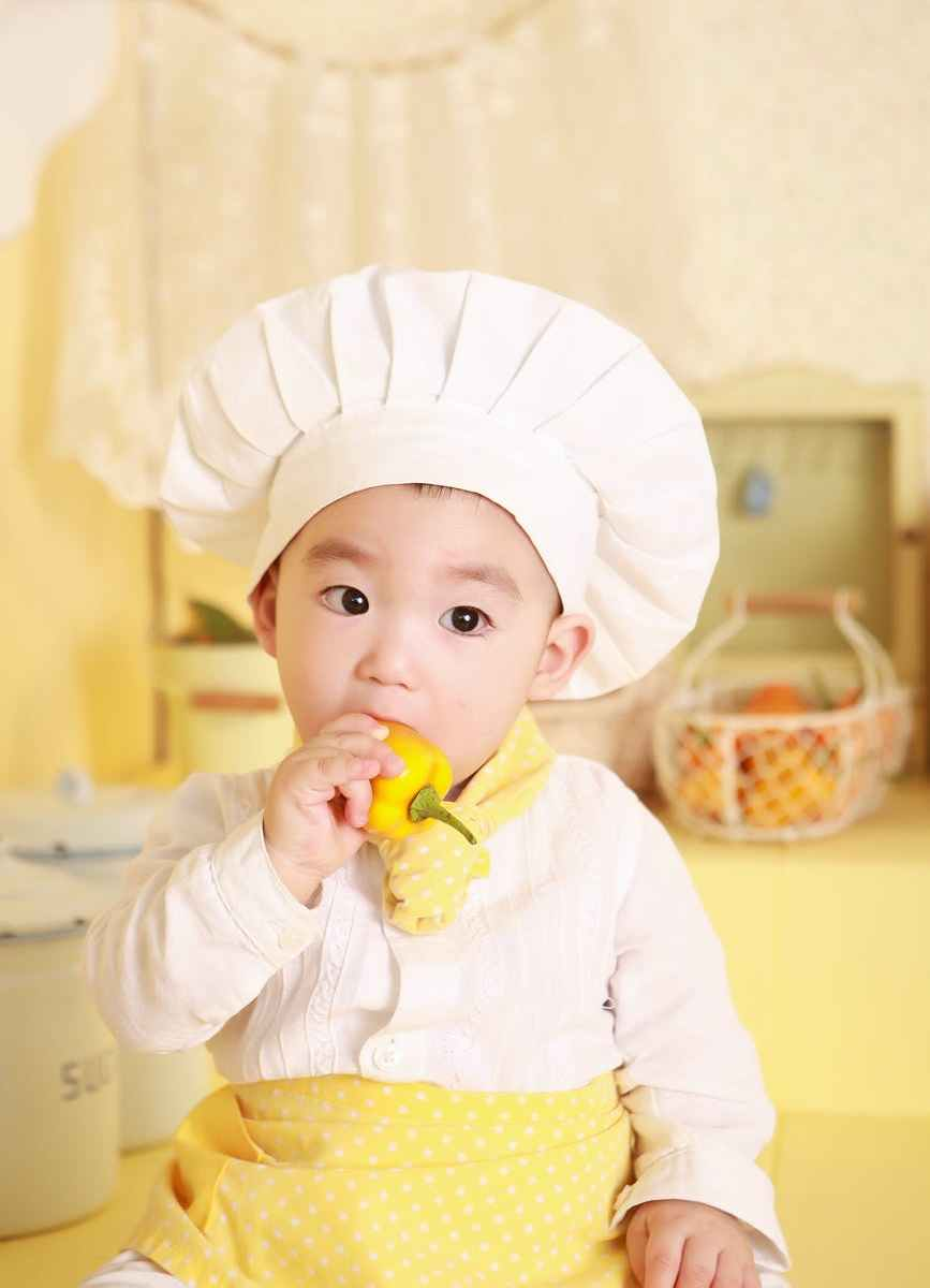 chef kitchen cooking baby