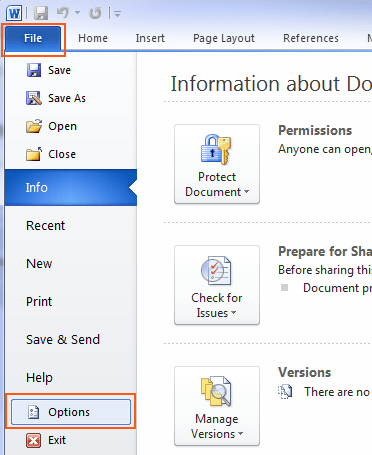 change document file to pdf with microsoft office 2010