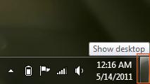 Windows 7 - Show Desktop