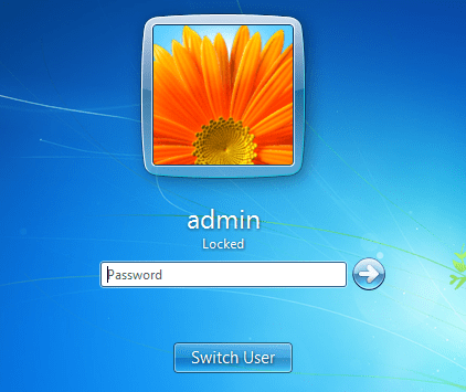 Windows 7 - Welcome screen