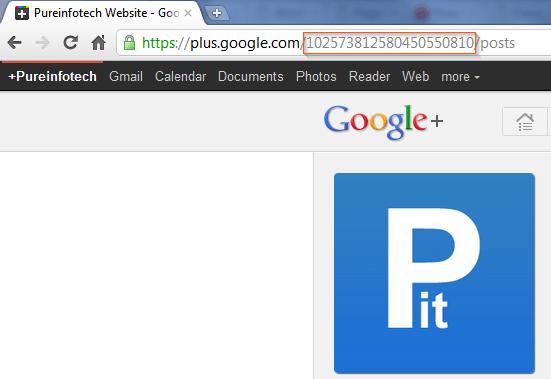 Google Plus user profile ID