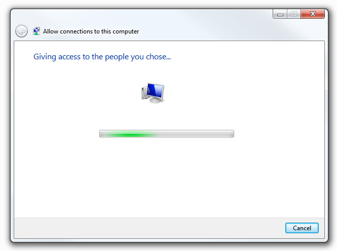 Windows 7 VPN Server - Giving access and completing process