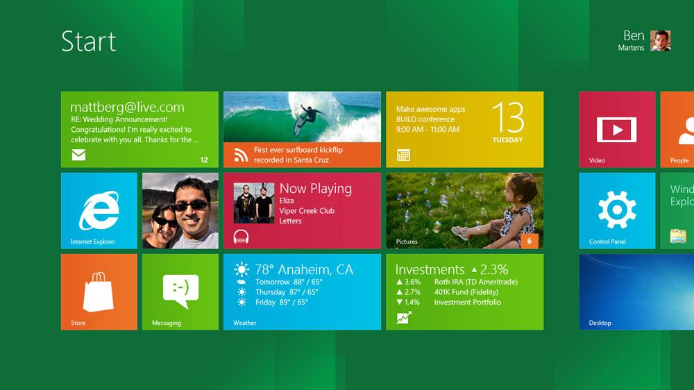Windows 8 - Start Screen