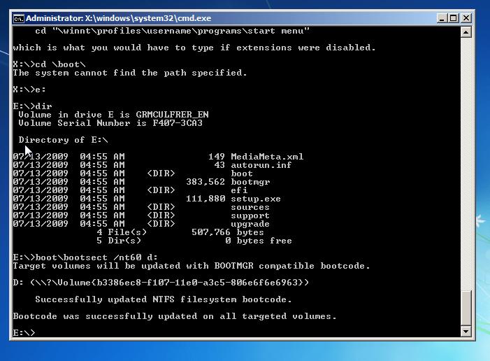 Uninstall Windows 8 - Windows 7 Command Prompt - Fix boot