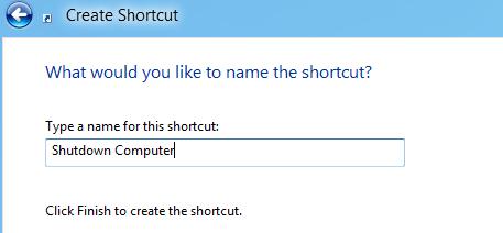 Name shortcut