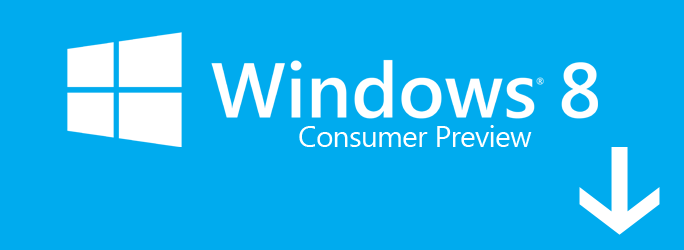 Windows 8 consumer preview iso image is available for download.