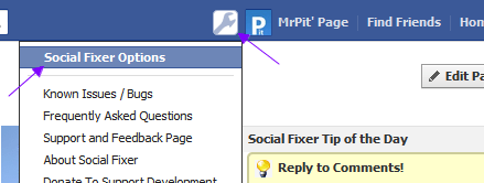 Facebook Social Fixer Button