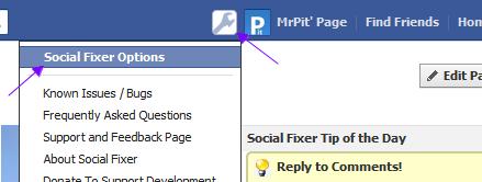 Facebook Social Fixer Button