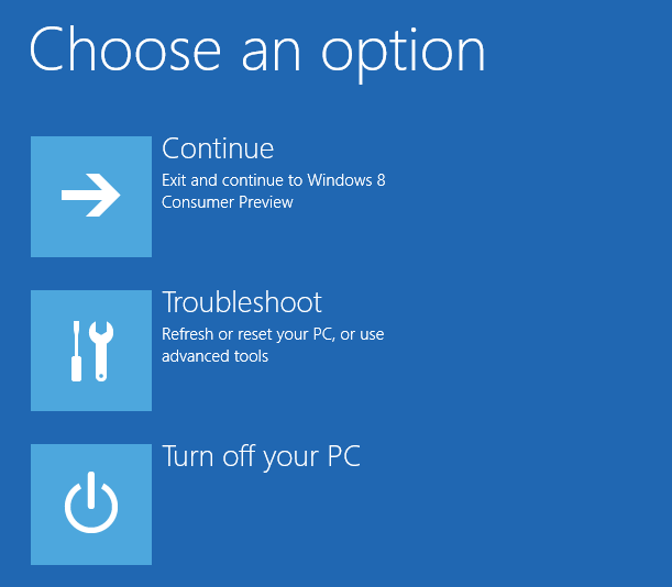 Advanced Startup - Windows 8