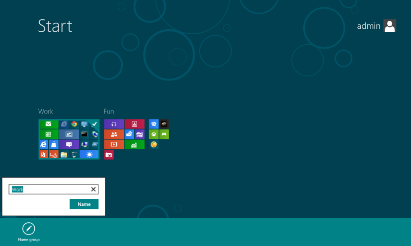 Rename group Start Screen Windows 8