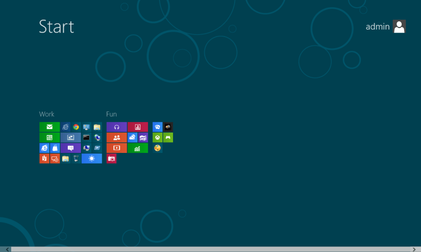 Semantic zoom - Start Screen - Windows 8